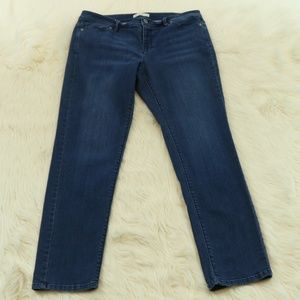 J Jill Authentic Fit Slim Leg Blue Jeans